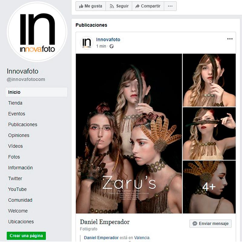 Innova Foto publicación en facebook editorial zarus de Daniel Emperador